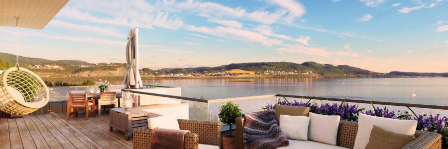 24 flotte leiligheter med sjøutsikt